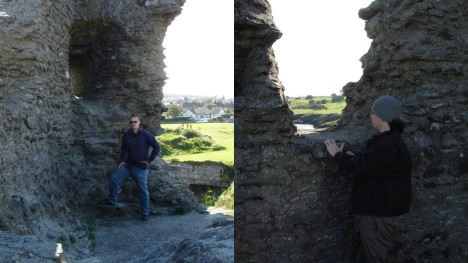 Both of us enjoying the view from the ruins of the Black Castle