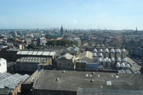 The View from the Guinness Storehouse Gravity Bar
