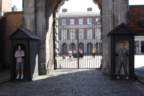 I don't know if these guards for Dublin Castle were quite up to the task.