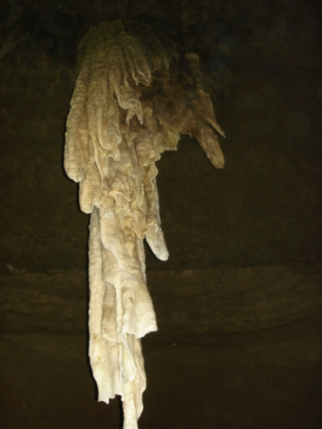 Closeup of the most massive stalactite in the world.