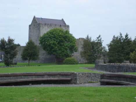 Athenry gardens, where we snacked, with the castle in the background.